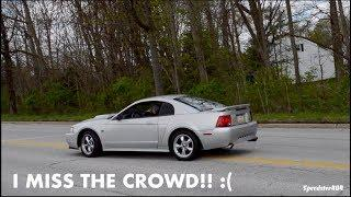 MUSTANG ALMOST LOST CONTROL! Cars Leaving Cars & Coffee