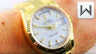Rolex Day Date 36 Yellow Gold (118238) Luxury Watch Review