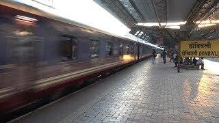India's Iconic Super Luxury Train DECCAN ODYSSEY With Its Shimmering Glossy Blue & Red Coaches !!!