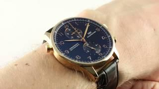 IWC Portuguese Chrono Rattrapante IW3712-10 Luxury Watch Review