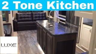 Luxury fifth wheels - 2 toned hardwood cabinetry
