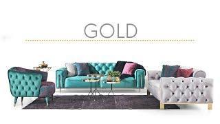 Gold Koltuk Takımı Luxe Life Mobilya