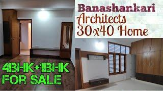 Banashankari 4BHK + 1BHK Independent Luxury Home for Sale on 30x40 | Bengaluru
