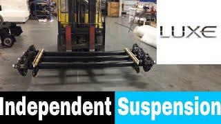 Luxe Independent suspension - luxury fifth wheel suspension - MORryde IS and Dexter TorFlex IS