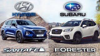 2019 Hyundai Santa Fe VS Subaru Forester - Design, Safety, Features