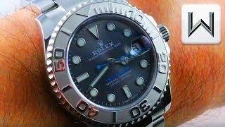 Rolex Yacht Master 37mm DARK RHODIUM 268622 Platinum Stainless Steel Luxury Watch Review