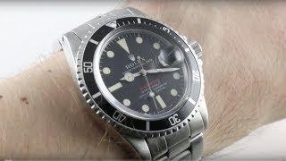 "Rolex Submariner ""Red Submariner"" (VINTAGE) 1680 Luxury Watch Review"