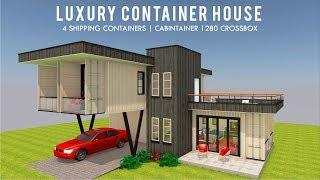 Luxury Shipping Container Prefab House Design + Floor Plans | CABINTAINER 1280X