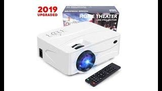 Pansonite Mini Portable Projector with 3000 Lux  and 50,000 Hour Lamp Life (White)