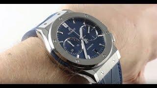 Hublot Classic Fusion Titanium (BLUE DIAL) 521.NX.7170.LR Luxury Watch Review