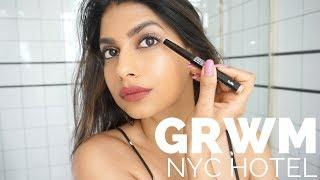 GRWM: In my NYC HOTEL ROOM!