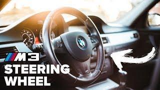BMW M3 STEERING WHEEL SWAP | Installation DIY!