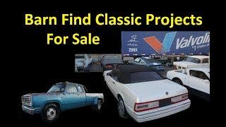 CLASSIC BARN FIND CARS FOR SALE ~ PROJECT MUSCLE & EURO