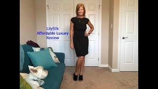 Lilysilk Affordable Luxury Review...A LBD you will want in your closet!