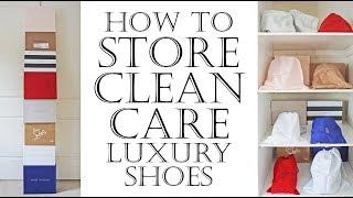 How to take care, clean, store and protect luxury designer shoes inc Louboutin, Valentino etc