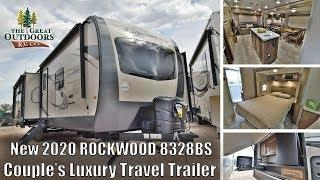 New 2020 FOREST RIVER ROCKWOOD 8328BS Island Kitchen Couples RV Camper Luxury Trailer Colorado