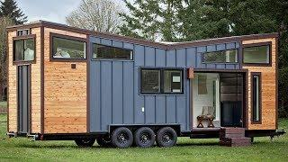 Gorgeous Luxury Tiny Home w/ V-Shaped Roofline, Garage Door, Bose Surround  System