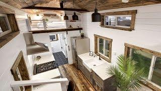Elegant Luxury Country Tiny House w/ 2ft Loft Overhangs & Open Living Space | Small Homes Design