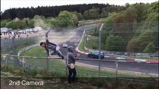 BMW 335i near crash at Nürburgring