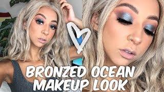Bronzed Ocean Eye Look   Summer Makeup Tutorial   Lexi Luxury
