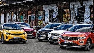 Kia Stonic vs Opel Crossland X vs Mazda CX-3 vs Seat Arona vs Volkswagen T-Roc