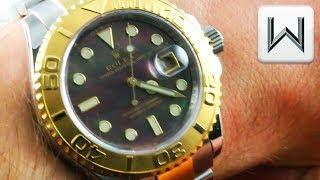 Rolex Yacht Master MOTHER OF PEARL 16623 Two Tone Steel Gold Luxury Watch Review