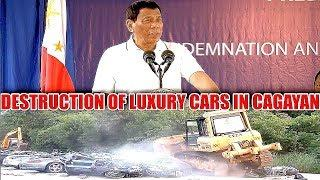 DUTERTE LATEST NEWS - JULY 31 2018 | DUTERTE WITNESSES THE CONDEMNATION & DESTRUCTION OF LUXURY CARS