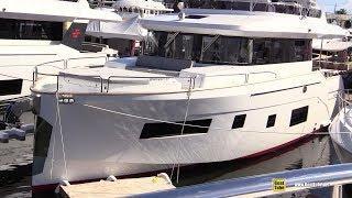 2019 Sirena 58 Luxury Yacht - Deck and Interior Walkaround - 2018 Fort Lauderdale Boat Show