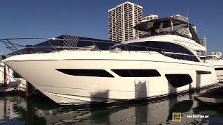 2019 Princess F70 Luxury Yacht - Walkaround - 2019 Miami Yacht Show