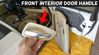 HOW TO REMOVE AND REPLACE FRONT INTERIOR DOOR HANDLE ON BMW E90 E91 E92 E93