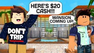 I PAID A STRANGER $20 TO BUILD ME A LUXURY MANSION IN ROBLOX BLOXBURG!