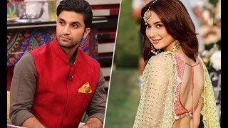 Hania Amir and Ahad Raza Mir