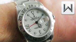 Rolex Explorer II Polar 40mm (Tritium Dial) 16570 Luxury Watch Review