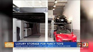 Cave Creek luxury storage houses classic cars, motorcycle, RVs
