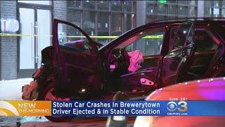 Stolen Mercedes Crashes Into Luxury Highrise In Brewerytown