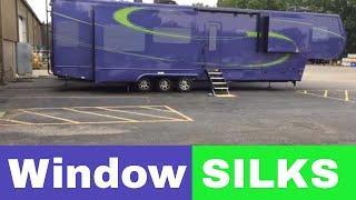 Window Silks - Luxe luxury 5th wheel - fluid paint scheme