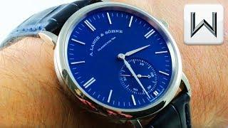 A. Lange & Söhne Saxonia (BLUE DIAL) (380.028) Luxury Watch Review