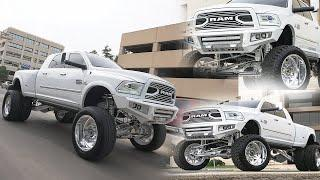 HOW A LUXURY LIFTED 2018 RAM DUALLY ON 26 INCH SUPER SINGLES WAS BUILT! ALL WHITE AND CHROME TRUCK!