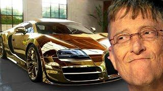 Bill Gates - 45 000 000 $ Cars Collection & Private Jet 2018