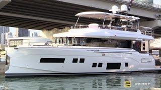 2019 Sirena 64 Luxury Yacht  Interior Deck Bridge Walkthrough  2019 Miami Yacht Show