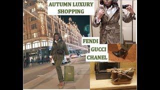 Autumn Luxury Shopping in Harrods - FENDI, CHANEL, GUCCI, LV