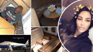 Lux Life! Kim Kardashian and Kanye West gives tour of PRIVATE BOEING 747