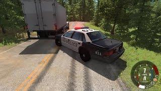 EXTREME CRASHES - Highway Patrol Speedy Chase Trying To Stop Delivery Truck - Beamng Drive #452