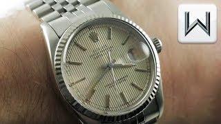 Rolex Datejust Tapestry Dial, Jubilee Bracelet (16014) Luxury Watch Review