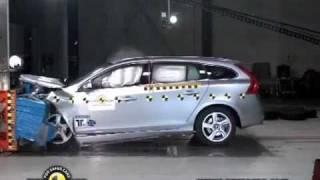 2011 Volvo V60 Estate EuroNCAP Crash Tests (Frontal Offset, Side, & Pole)