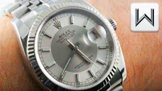 "Rolex Datejust ""Silver Tuxedo Dial"" Roulette Date (116234) Luxury Watch Review"