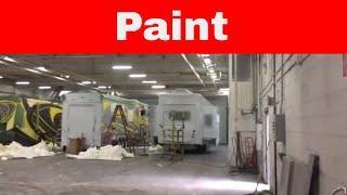 More - Luxury Toy Hauler - Paint Process