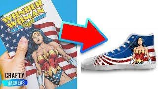 10 WAYS TO RECYCLE YOUR OLD COMIC BOOKS | SUPERHERO CRAFTS | MARVEL SUPERHERO