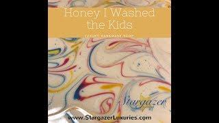 Making & Cutting Honey I Washed the Kids Luxury Cold Process Soap