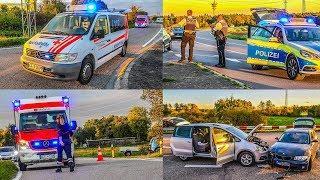 [SCHWERER UNFALL nach VORFAHRTSFEHLER] BMW contra SEAT   RETTUNGSDIENST & POLIZEI im EINSATZ